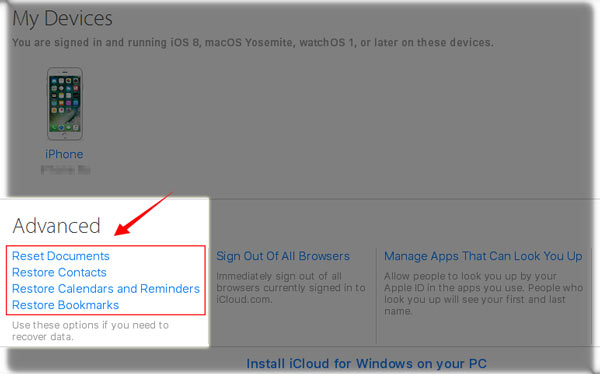 how to retrieve deleted document from icloud