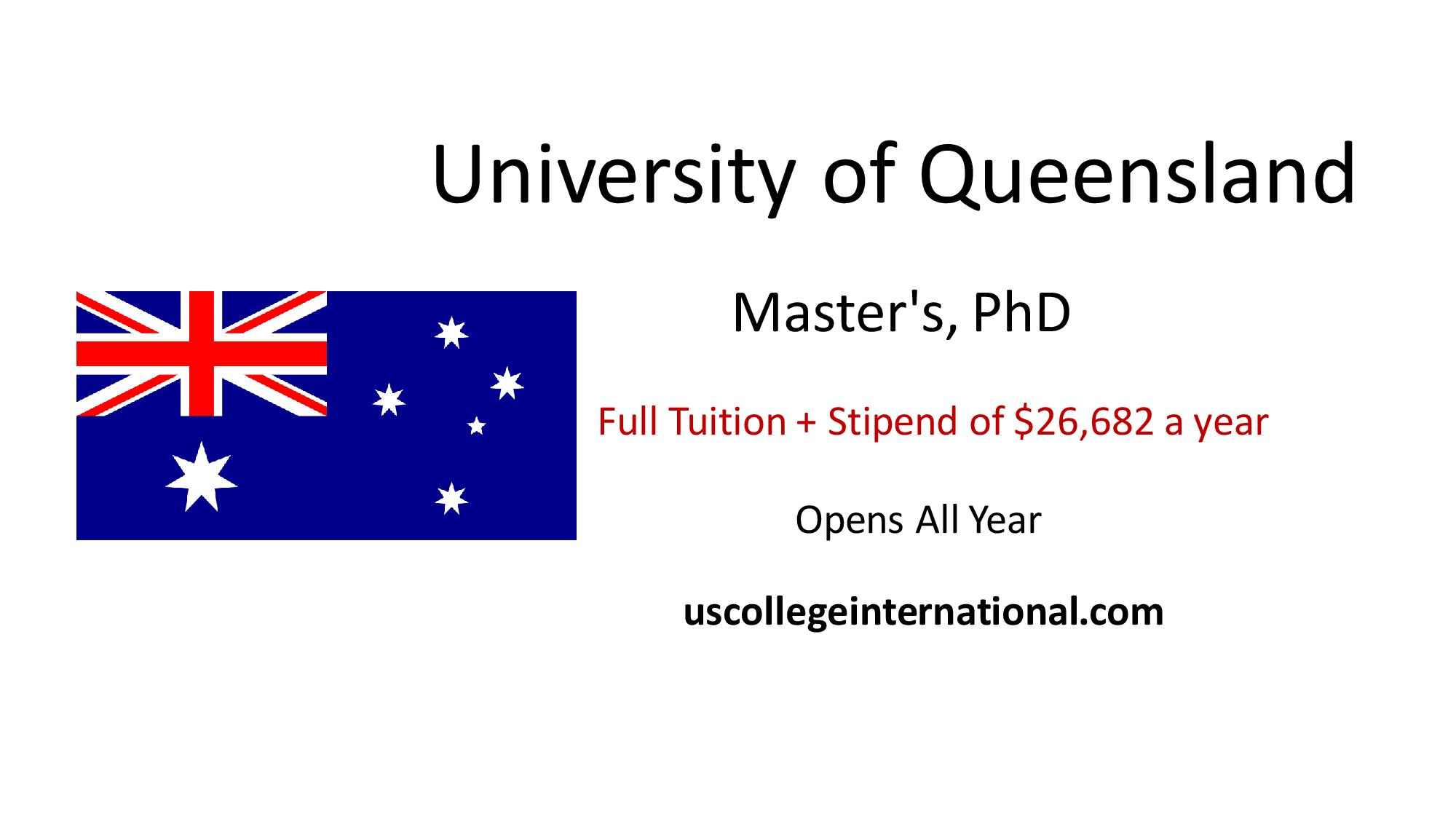 uq academic document for graduated student