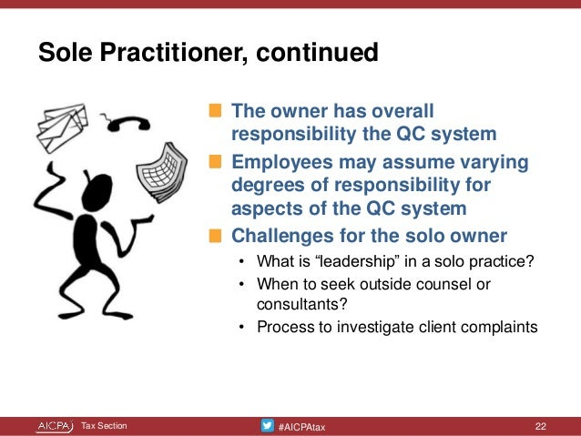 sole practitioner cpa quality control document