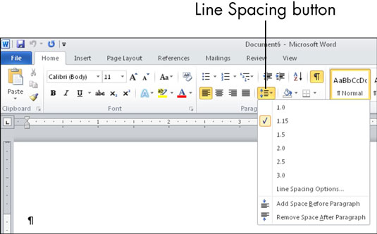 how to make a document double spaced in pages