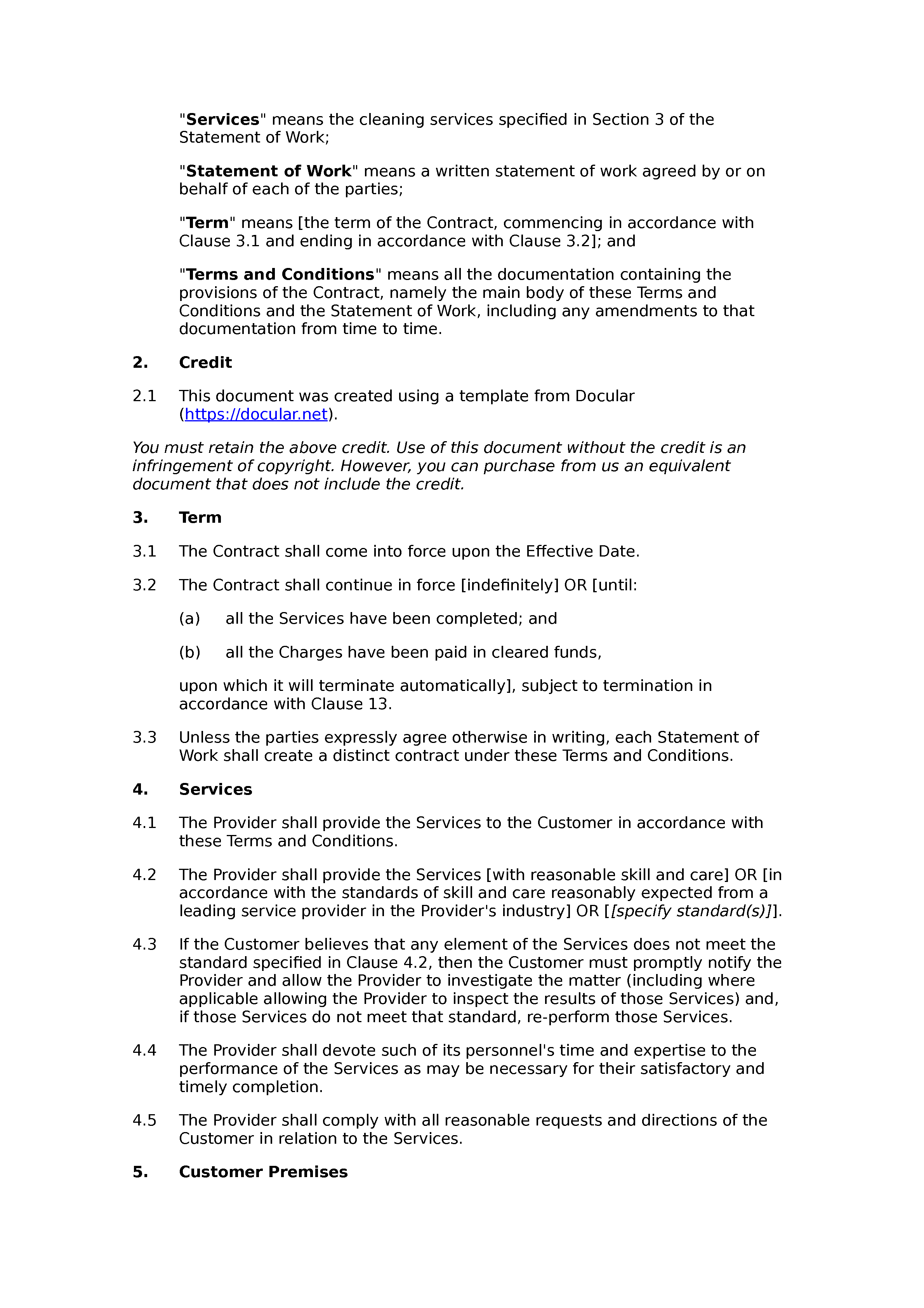 legal document terms and conditions