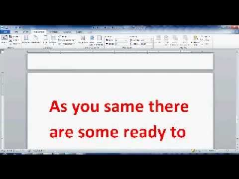 how to reset margins in word document