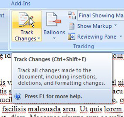 accept all changes in word document