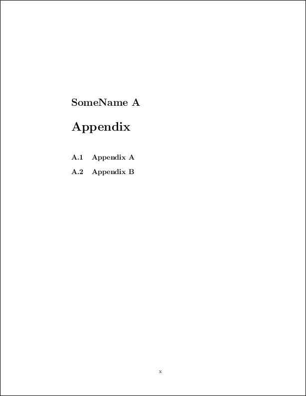 adding an appendix to a word document