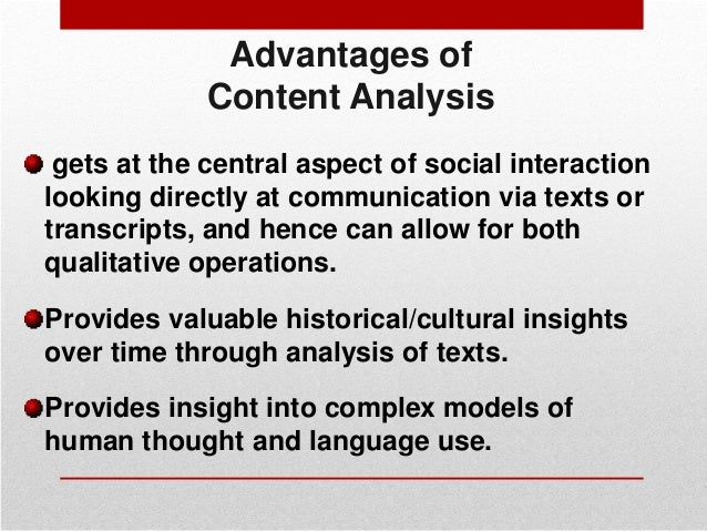 advantages and disadvantages of document analysis in qualitative research