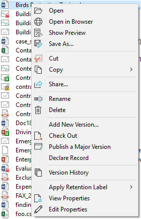 sharepoint copy document with version history