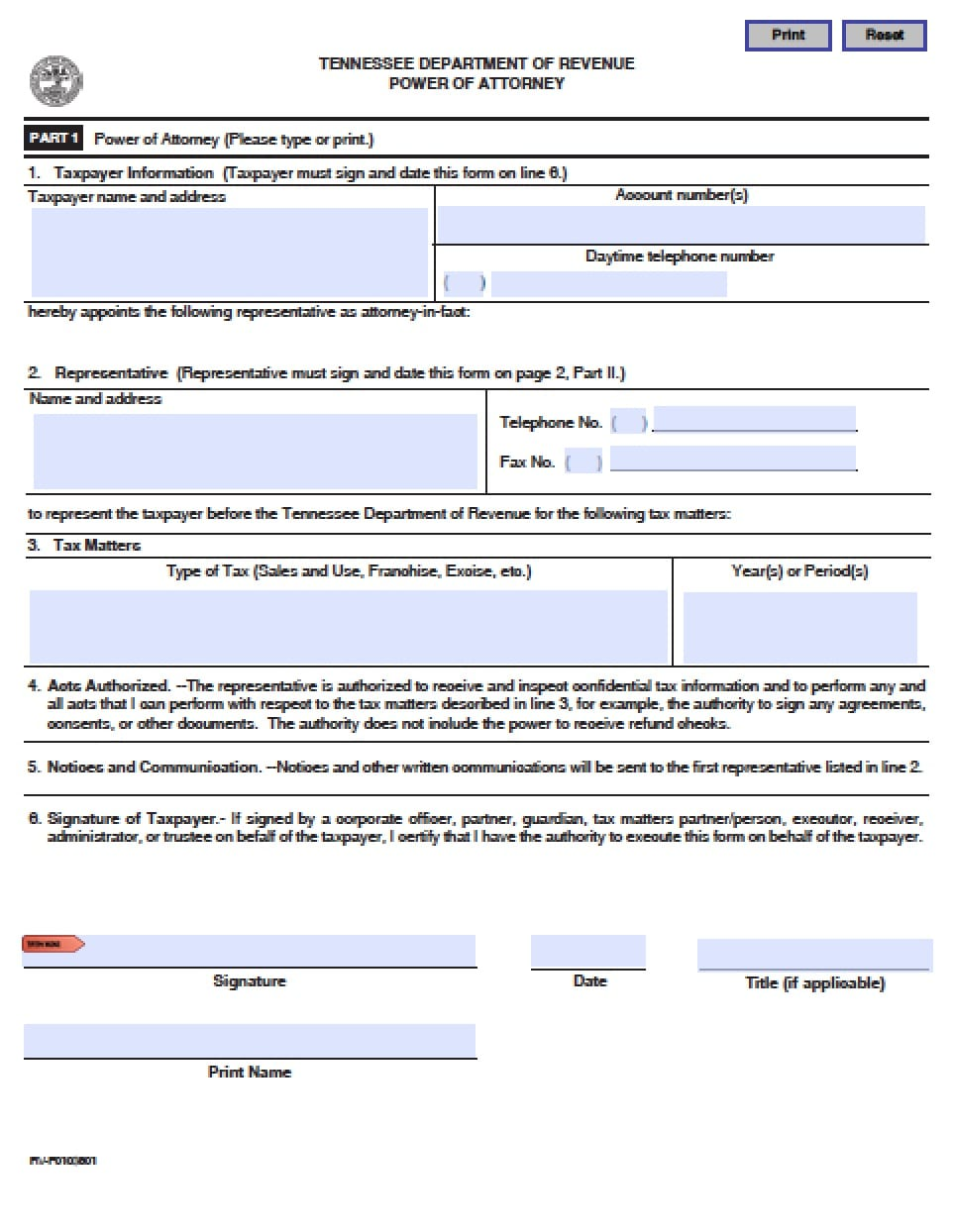 how to change power of attorney document