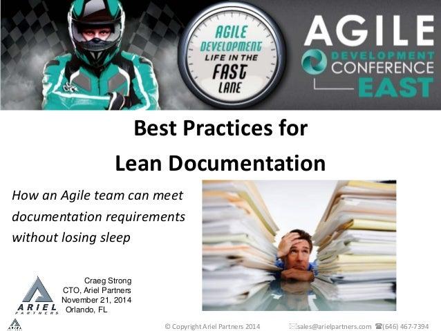 agile methodology requirements documentation