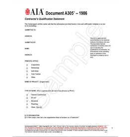 aia document a305-1986 sample