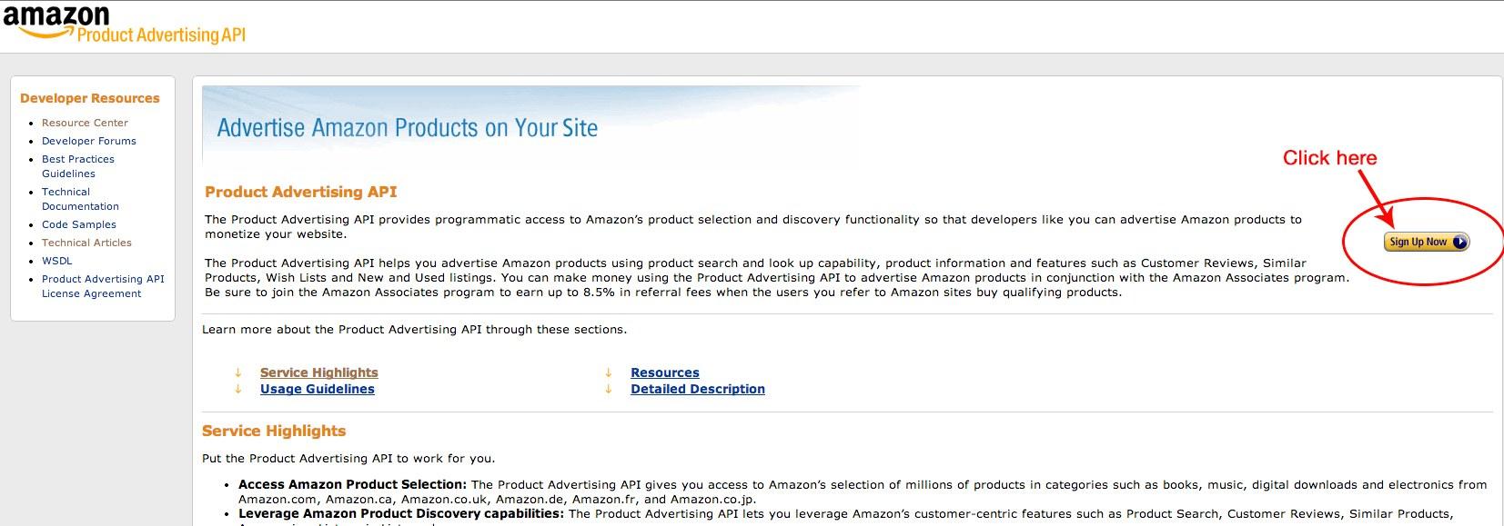 amazon product advertising api documentation