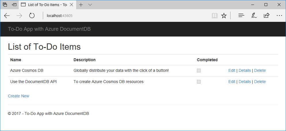 azure cosmos db document linked