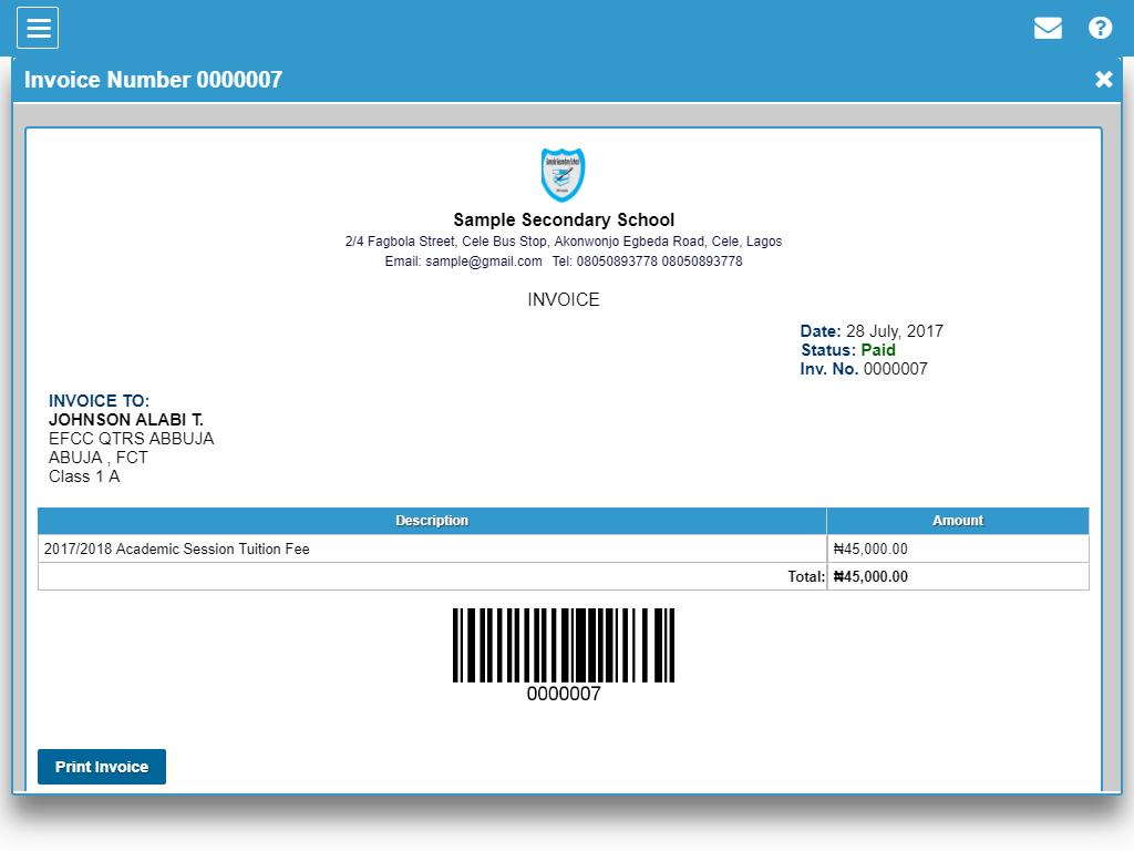 school management system software documentation