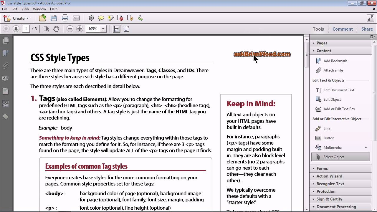 how to create an interactive document
