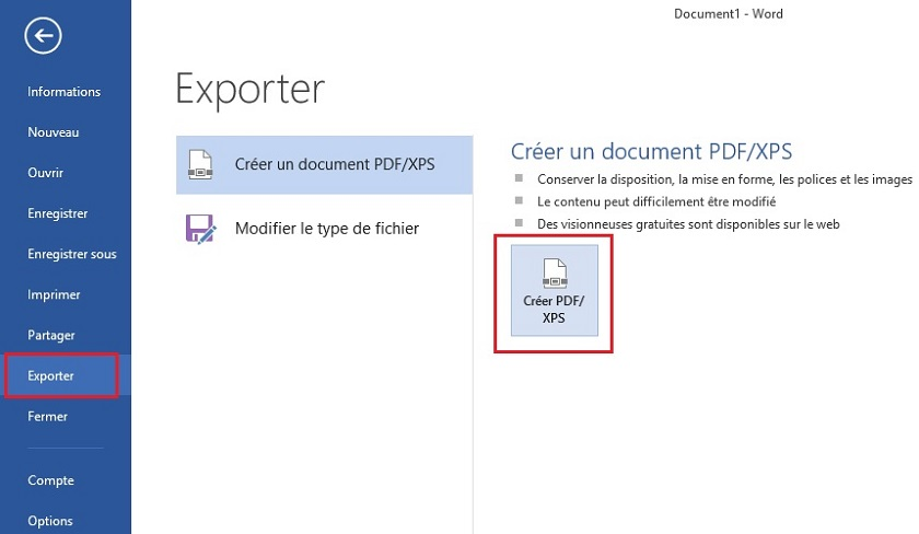 modifier un document jpeg en pdf