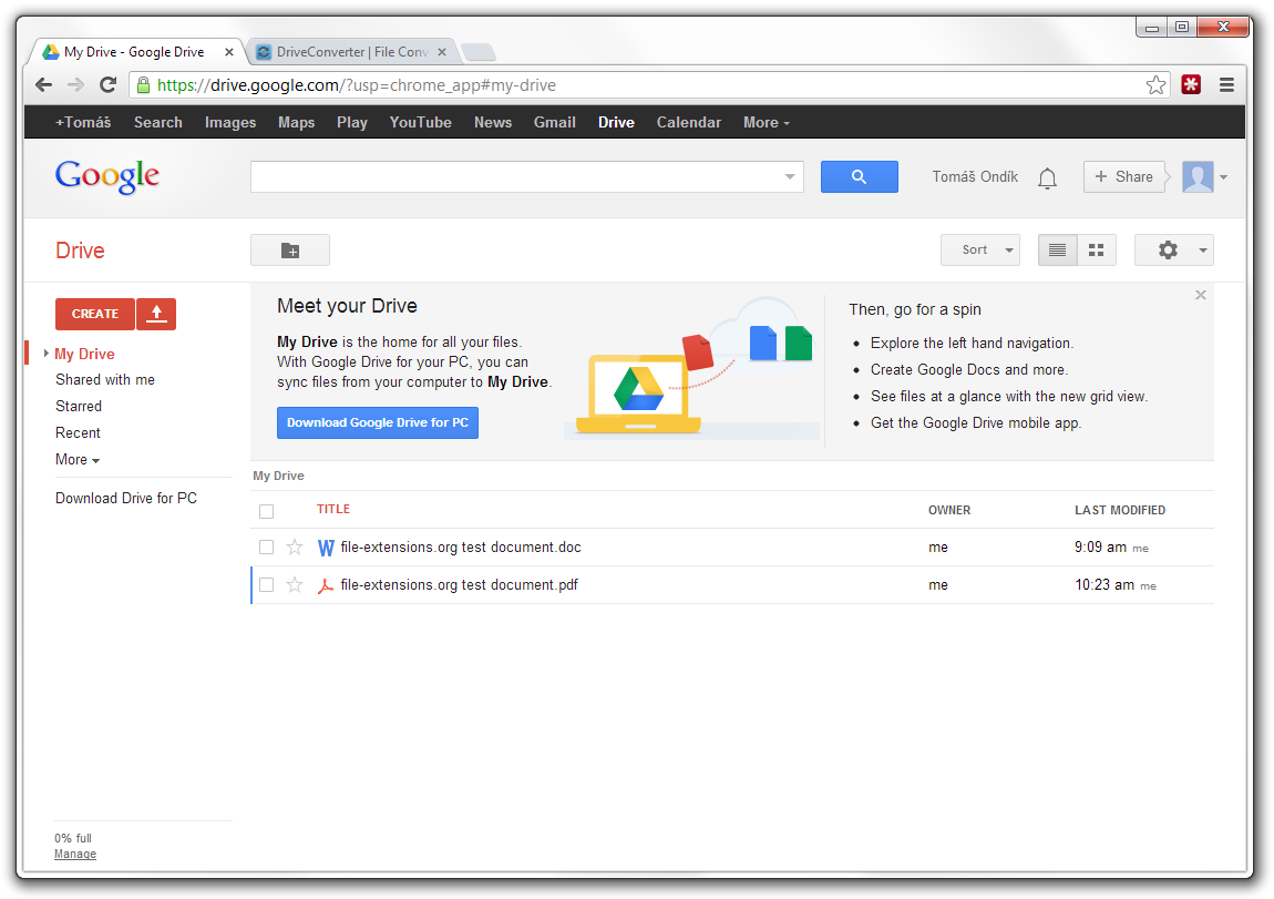 add document to google drive