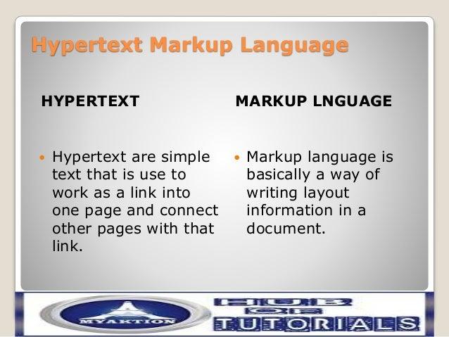 a hypertext markup language html document