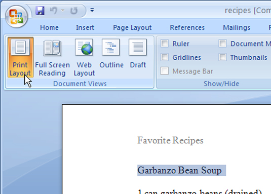 how to highlight an entire word document