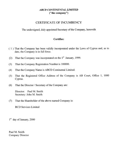 beyond bank certification of original document