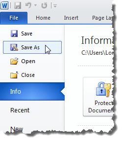 save word document as pdf office 365