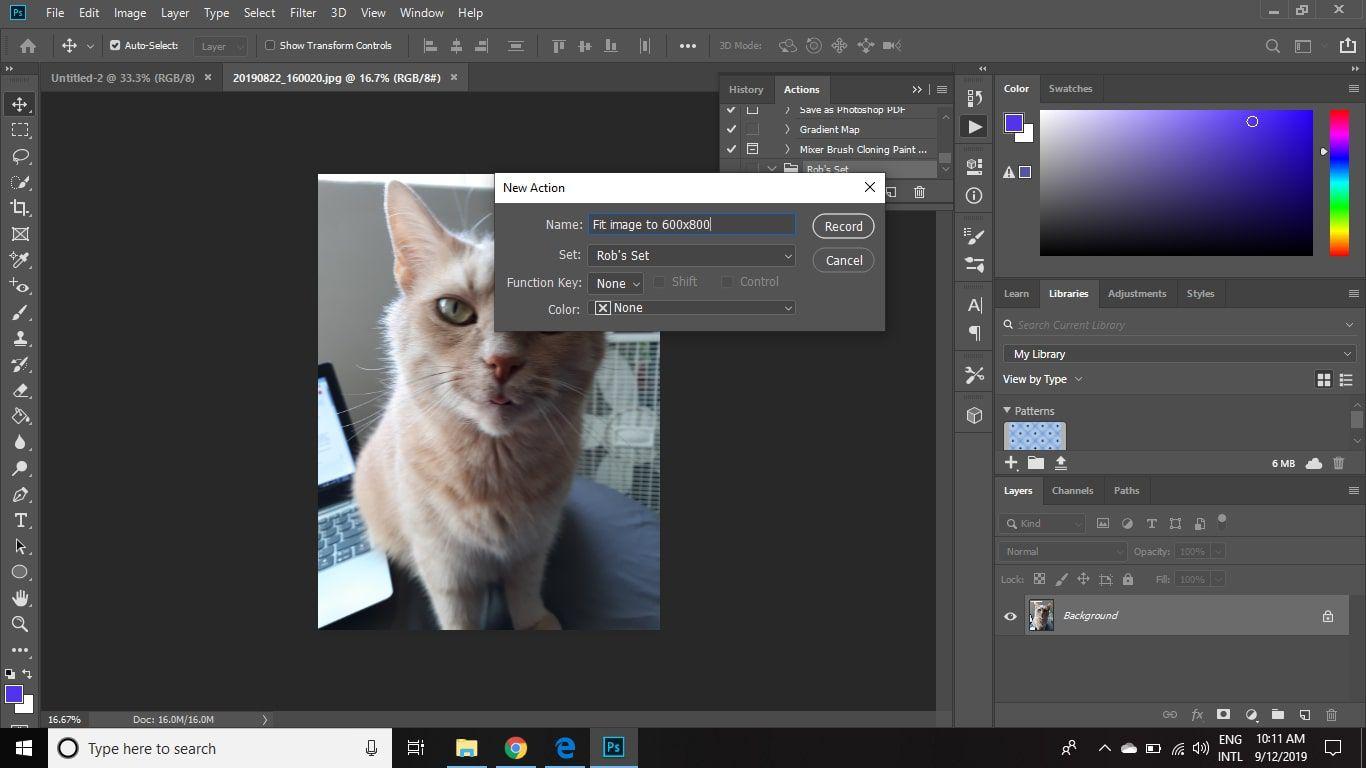 photoshop batch please choose a document name