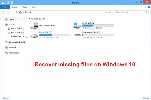 how to recover a document off windows