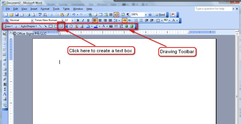 add a side bar in word document