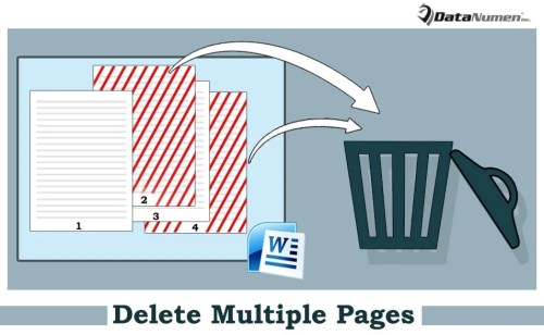 how to delete a page on word document