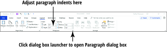how to make a hanging indent on a word document