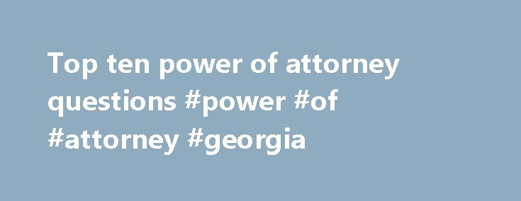 can a power of attorney sign a notarized document