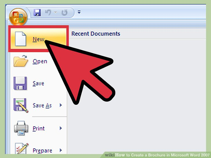 document creation in ms word