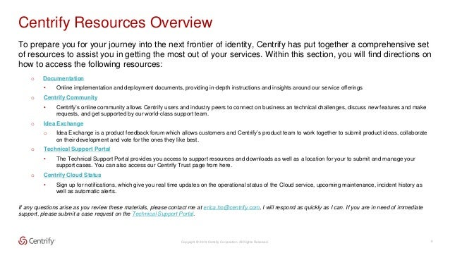centrify identity service documentation