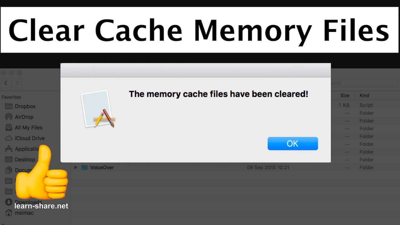 clearing office document cache mac