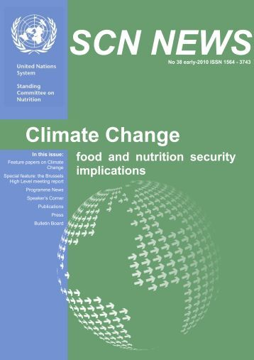 climate change and food security a framework document