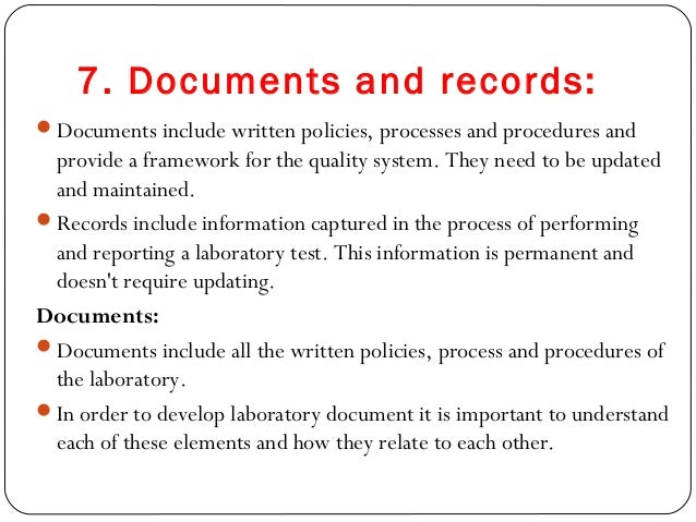 clinical laboratory document control policy