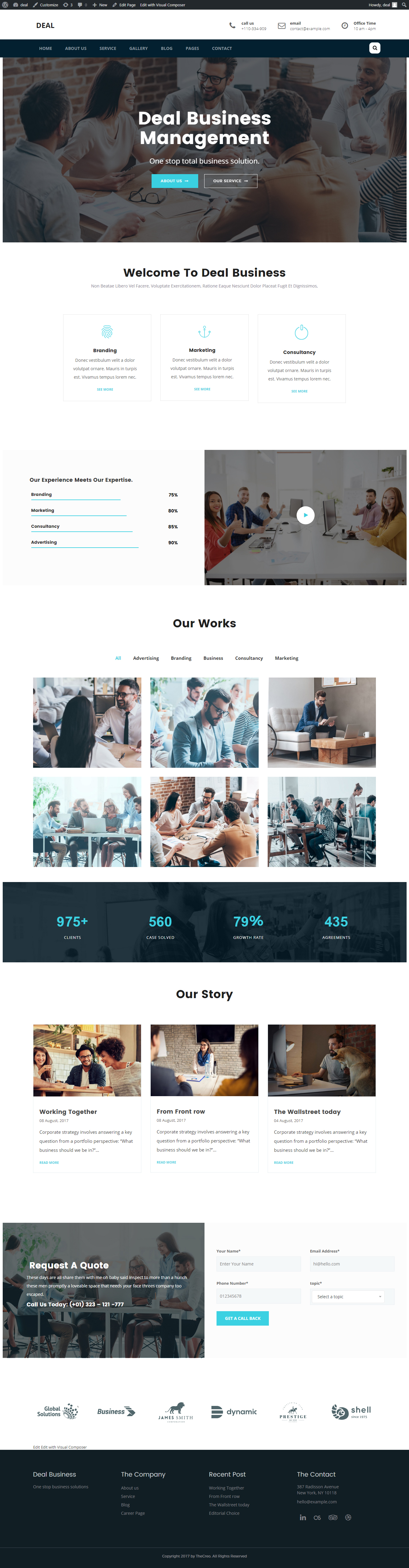 consulting wordpress theme documentation