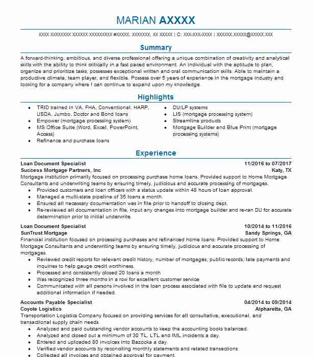 contract attorney resume document review