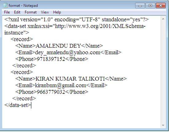 convert datatable to xml document in c