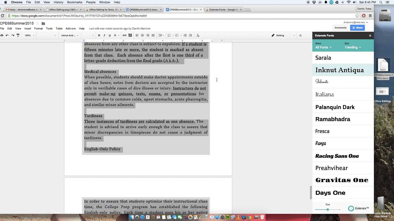 convert google docs to word document