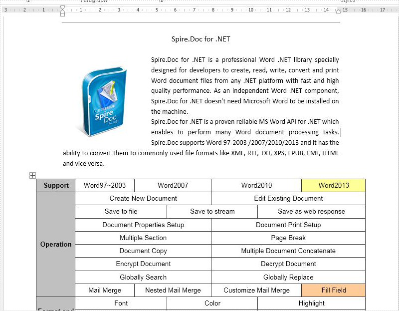 convert text to word document