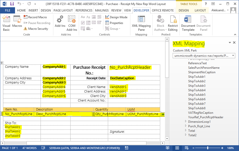 creating a new document in ms word