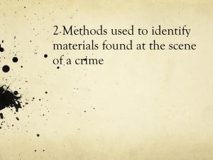 crime scene documentation definition