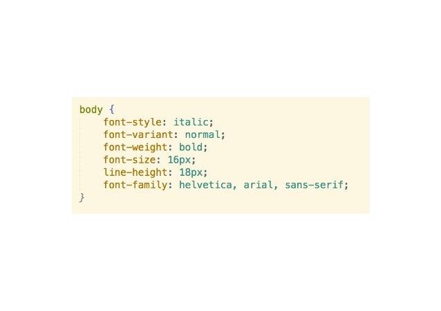 css documentation font size
