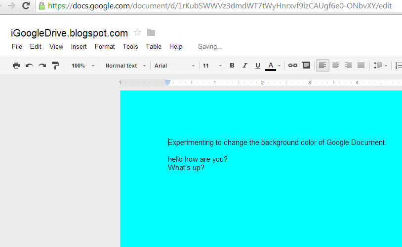 how to change document on google doc