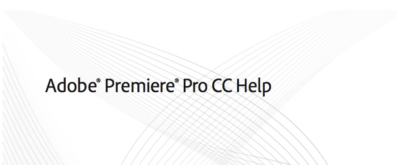 premiere pro help documentation