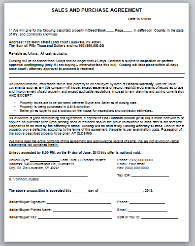 document before you buy a property