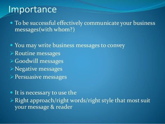 correspondence to use as business documentation