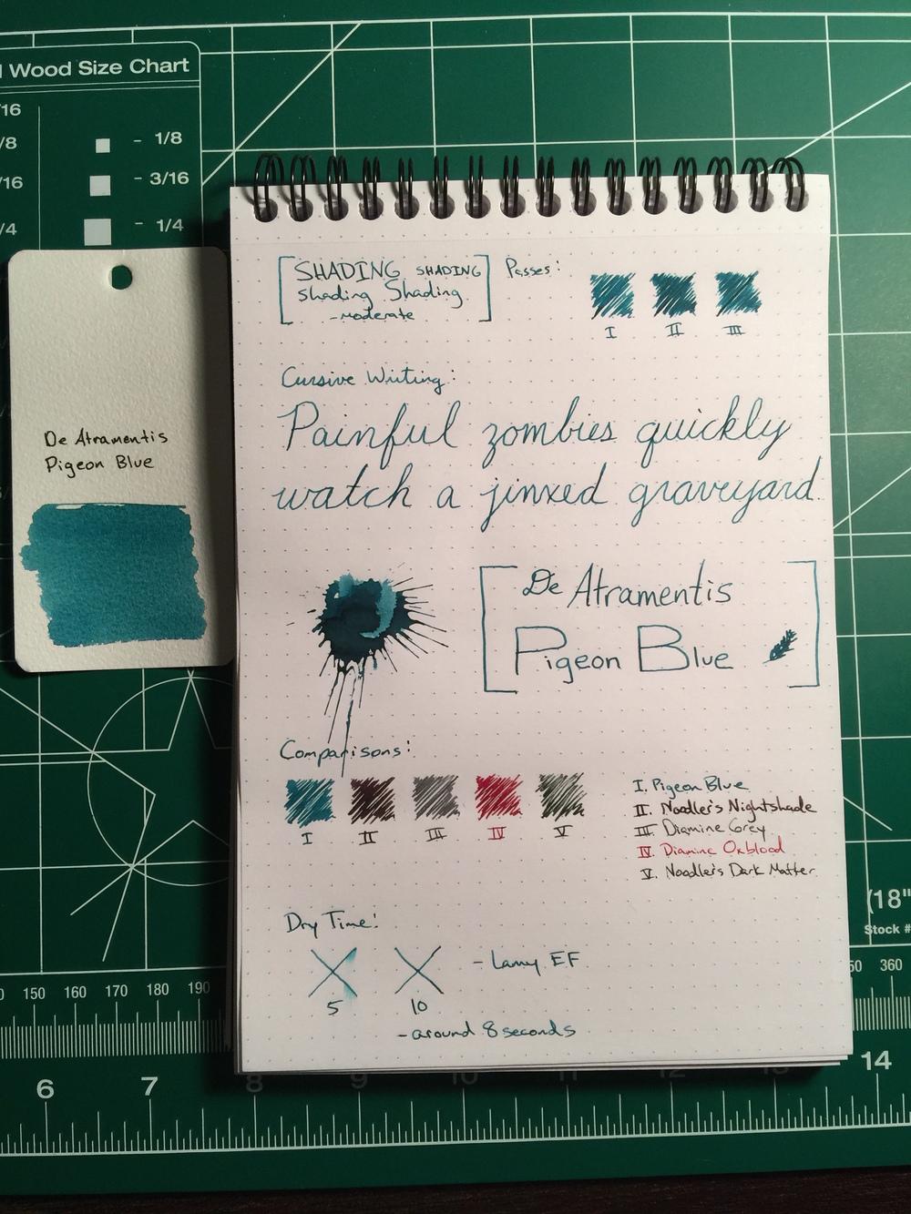 de atramentis document ink blue
