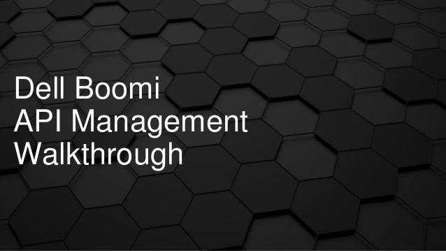 dell boomi api management documentation