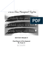 dental clinic management system thesis documentation