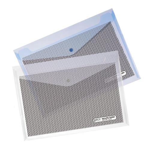 document wallet a4 clear with seal